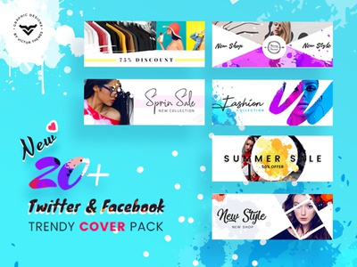 Facebook & Twitter Cover Social Media Templates