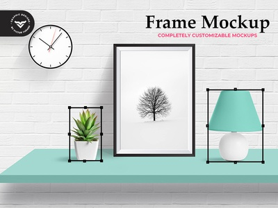 Wall Photo Frame Mockup Template