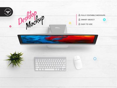 Top view Desktop Mockup
