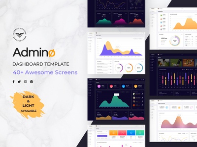 Admino - Admin Dashboard PSD Template
