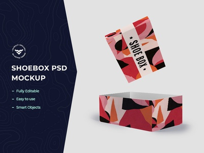 Shoe Box Mockup Template