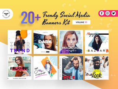 Social Media Banners Kit Volume XIII