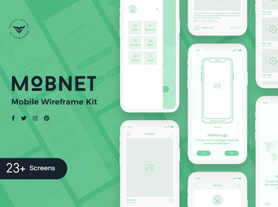 Mobnet Mobile Wireframe Kit