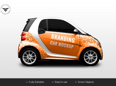 Car Branding PSD Mockup Template
