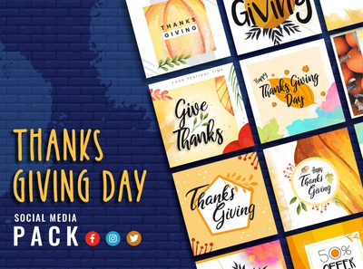 Thanksgiving Day Social Media Template