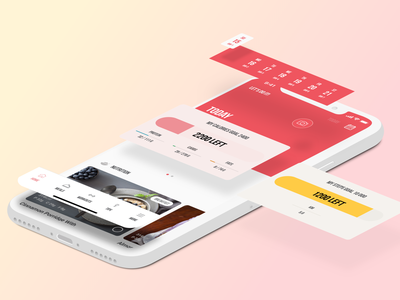 Build LSF ui design app vector branding promo gradient isometry flat colors fitness app fitness