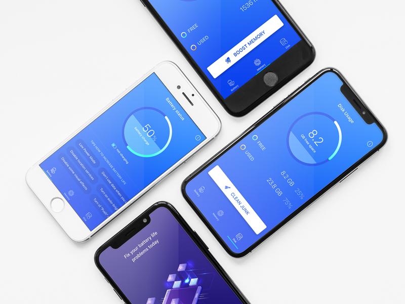 Boost ux blue ui design app