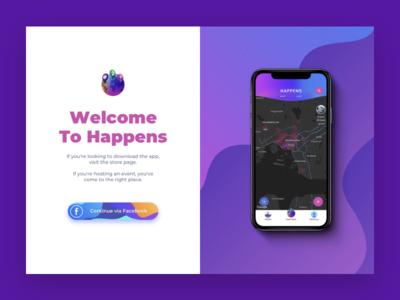 Happy App page web promo landing app