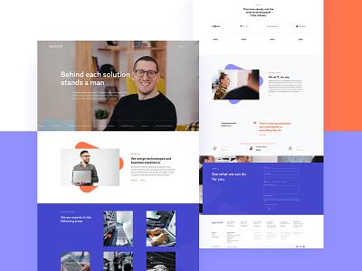 Spyrosoft Website sketchapp triangle technology website design adchitects ui design employee branding ux uxui