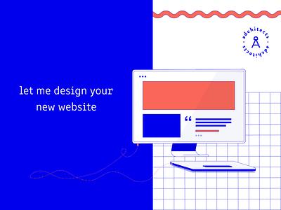 LinkedIn background illustration adobe illustrator employer branding vector illustration red blue illustration vector flat adchitects