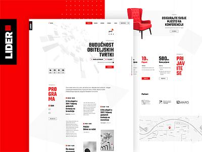 Lider Website web design website entrepreneurs conference business ui ux web