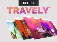 Tuesday Giveaway: Travely Free PSD