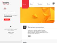 Digital desktop home template