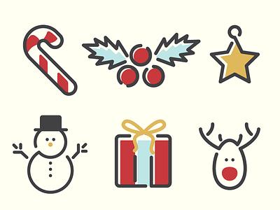 Christmas Icons vol. 2 winter celebration candy cane gift snowman star deer present xmas santa icons holiday friday freebie free stuff freebie free christmas