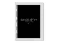 Redesigned cover of the magazine Honours Review