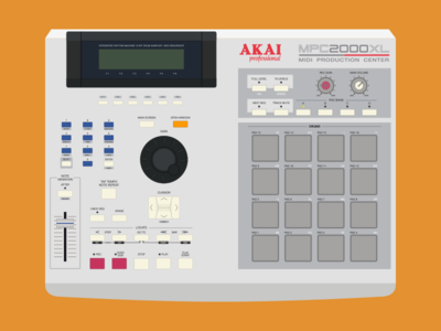AKAI MPC 2000XL | Illustration