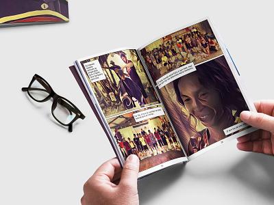 Macedonia Comic affinitydesigner photography design pro bono comic book