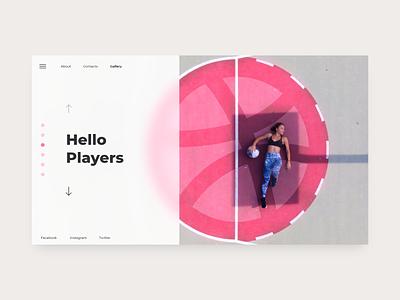 Hello Players hello dribbble web ui homepage homepage design adobexd affinityphoto webdesign website