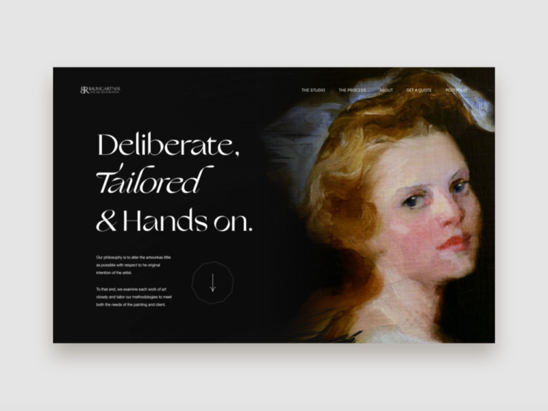 Baumgartner restoration Homepage Exploration website web video ux ui typography interaction concept casestudy interface animation