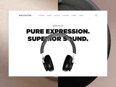 Bang&Olufsen - Beoplay H4 Concept minimal interface product page interaction design concept website ux ui animation
