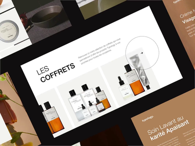 Product pages - Typology concept interaction product beauty minimal interface design ui typography illustration concept animation
