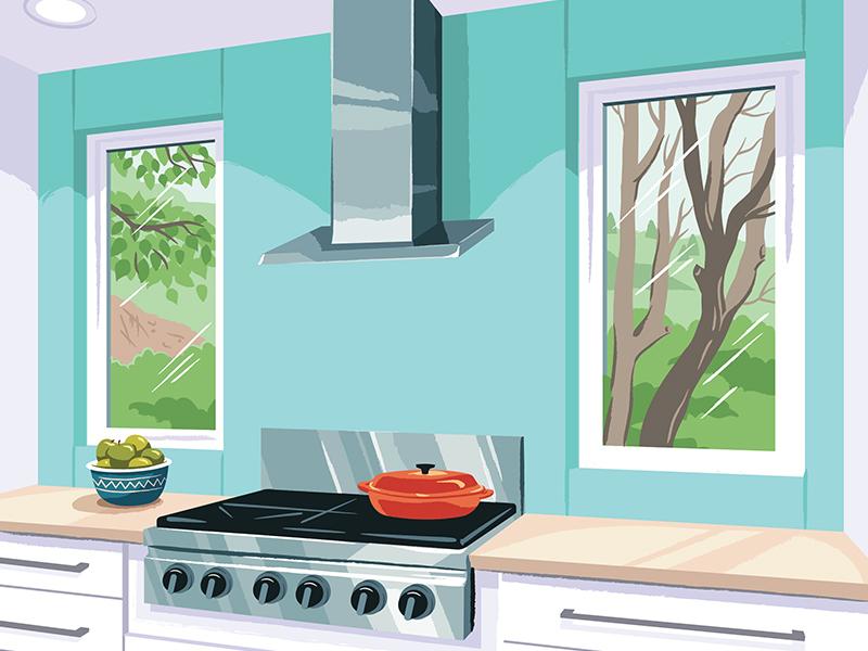 Window Illustration Series interior vector home illustration window