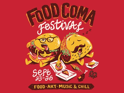 Food Coma Festival By Chris Phillips Dribbble Dribbble