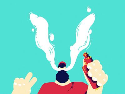 V 36daysoftype smoker vaper flatdesign vector illustration