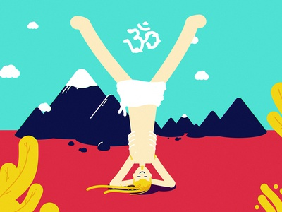 Y moutains yoga pose 36daysoftype lettering character illustration vector