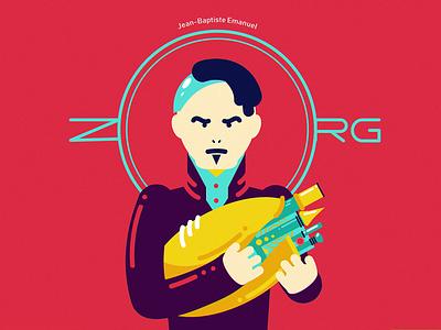 Z fun art five element gary oldman zorg film poster 36daysoftype character illustration vector