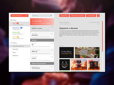 Email Client flat app vector ux ui design minimal