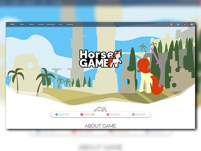 HorseGAME Website design minimal branding logo website web