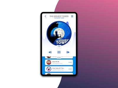 Music Player app design minimal ux ui