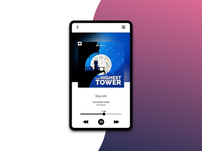 Music Player flat design app minimal ux ui