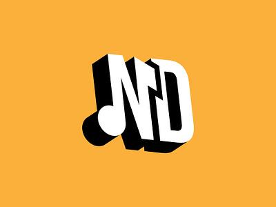ND typography branding vector logo design logotype logo