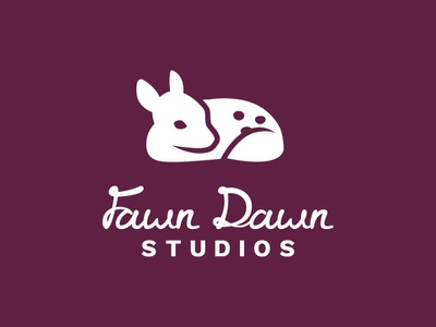 Fawn Dawn Studios vector minimal brand branding logo design logo