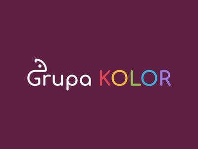 Grupa KOLOR minimal logo design branding logo