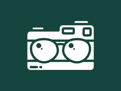 Camera + Glasses minimal logo design branding logo