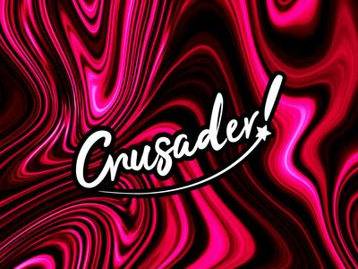 Crusader! typography logo design branding logo