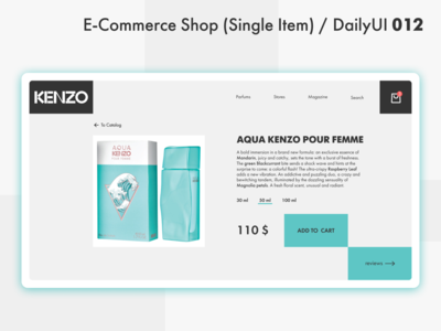 E Commerce Shop (Single Item) / DailyUI 012