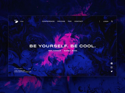 Landing Page Concept: Art Gallery Showcase Event