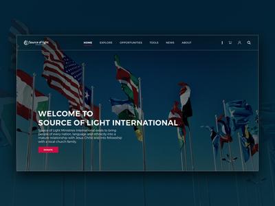 Non-Profit Landing Page Concept