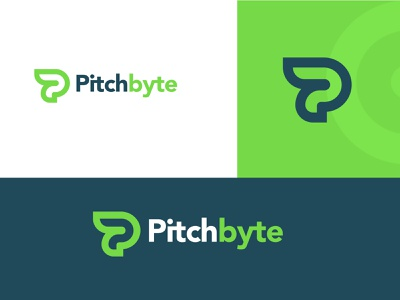 Pitchbyte Logo Design flat minimal logotype vector icon design logos logodesign br graphic design branding logo