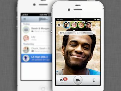 Dribbble Beta Test - Glide: Live Video Messenger