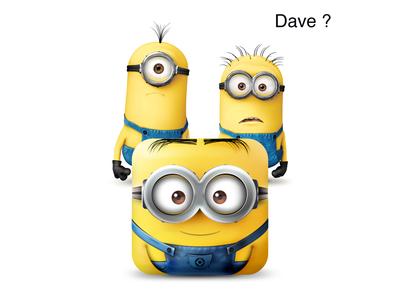 """Dave """"Despicable Me"""" iOS funny icon dave minion minions app icon ios fun cute 2d photoshop despicable me"""