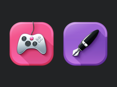 More icons ! icons ios ipad iphone pen controler game shadow