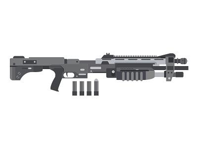 Shotgun (WIP) shotgun weapon flat