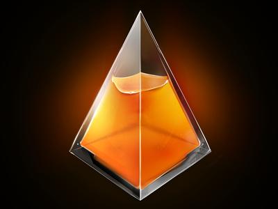 Pyramid of tea pyramid tea glass effect game sweet