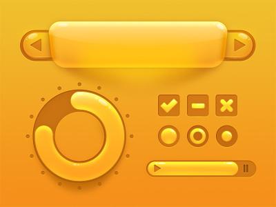 Fun UI Elements ui elements game bubble candy sweet button orange