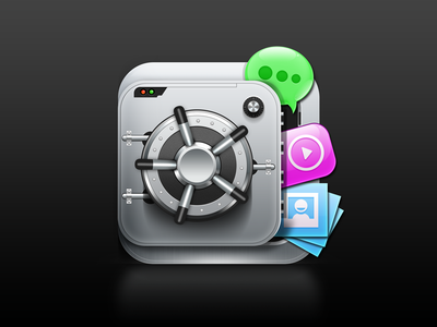 Media Secure icon secure icon app lock security padlock safe strongbox